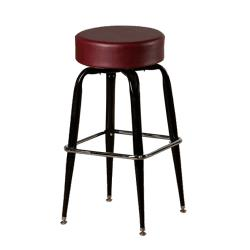 Oak Street - SL2135-WINE - Wine Button Top Stool w/Bucket Frame image