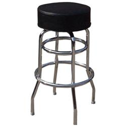Winco - BC-1K - Black Vinyl Bar Stool image