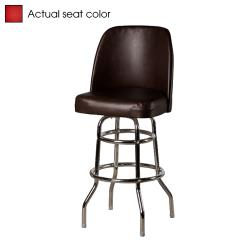 Oak Street - SL2134-RED - Red Bucket Seat Barstool w/Chrome Frame image