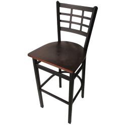 Oak Street - SL2163-1-W - Windowpane Barstool w/Walnut Wood Seat image