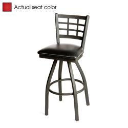 Oak Street - SL2163S-RED - Windowpane Swivel Barstool w/Red Vinyl Seat image