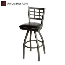 Oak Street - SL2163S-WINE - Windowpane Swivel Barstool w/Wine Vinyl Seat image