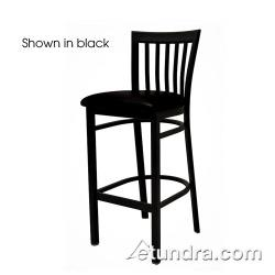 Oak Street - SL4279-1-RED - Jailhouse Barstool w/Red Vinyl Seat image