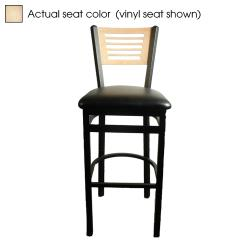 Oak Street - SL2150-1-5-N - 5-Line Natural Wood Back & Seat Barstool image