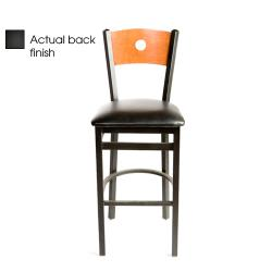 Oak Street - SL2150-1-B-B-BLK - Bull's-eye Black Wood Back Barstool w/Black Vinyl Seat image