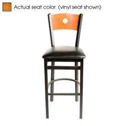 Oak Street - SL2150-1-B-C - Bull's-eye Cherry Wood Back & Seat Barstool image