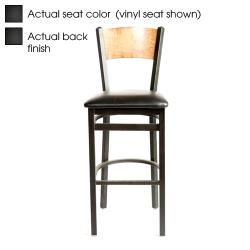 Oak Street - SL2150-1-P-B - Plain Black Wood Back & Seat Barstool image