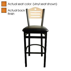 Oak Street - SL2150-1-SH-C - Shoreline Cherry Wood Back & Seat Barstool image