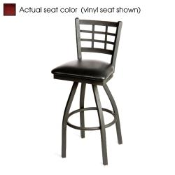 Oak Street - SL2163S-M - Windowpane Swivel Barstool w/Mahogany Wood Seat image