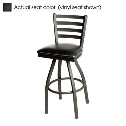 Oak Street - SL2301S-B - Ladderback Swivel Barstool w/Black Wood Seat image