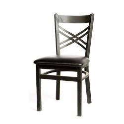 Oak Street - SL2130-BLK - Crossback Chair w/Black Vinyl Seat image