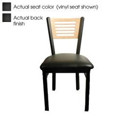 Oak Street - SL2150-5-B - 5-Line Black Wood Back & Seat Chair image