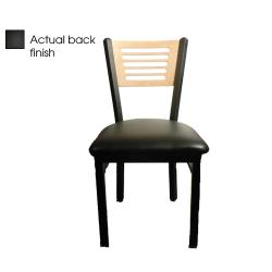 Oak Street - SL2150-5-B-BLK - 5-Line Black Wood Back Chair w/Black Vinyl Seat image