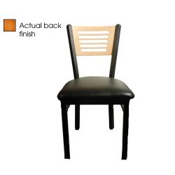 Oak Street - SL2150-5-C-BLK - 5-Line Cherry Wood Back Chair w/Black Vinyl Seat image