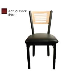 Oak Street - SL2150-5-M-BLK - 5-Line Mahogany Wood Back Chair w/Black Vinyl Seat image