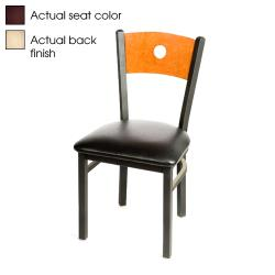 Oak Street - SL2150-B-N-WINE - Bullseye Natural Wood Back Chair w/Wine Vinyl Seat image