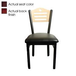 Oak Street - SL2150-SH-M-WINE - Shoreline Back Chair w/Wine Vinyl Seat image