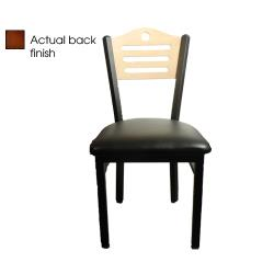 Oak Street - SL2150-SH-W-BLK - Shoreline  Back Chair w/Black Vinyl Seat image