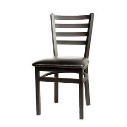 Oak Street - SL2160-BLK - Ladderback Dining Chair w/Black Vinyl Seat image