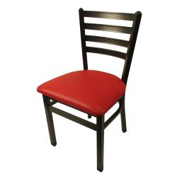 Oak Street   SL2160 SV RED   Ladderback Chair W/Vinyl Seat U0026
