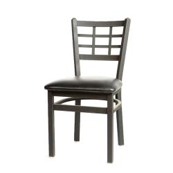 Oak Street - SL2163-BLK - Windowpane Chair w/Black Vinyl Seat image