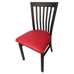 Oak Street - SL4279-RED - Jailhouse Chair w/Red Vinyl Seat image