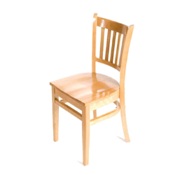 Oak Street - WC102-N - Verticalback Natural All Wood Chair image