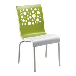 Grosfillex - US021152 - Fern Green/White Tempo Sidechair - 4 Pack image