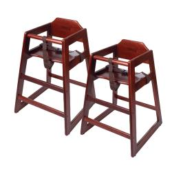 GET Enterprises - HC-100-M-2 - Mahogany High Chair image