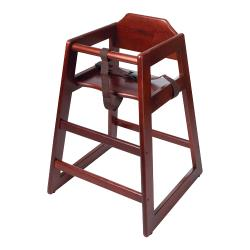 GET Enterprises - HC-100-M-KD-1 - Knock Down Mahogany High Chair image