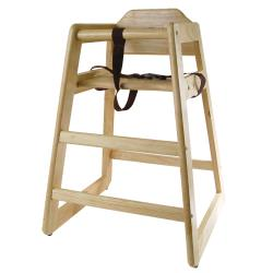 Winco - CHH-101 - Natural Finish Wood High Chair image