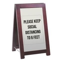 Cal-Mil - 851-SD - Westport Wooden Freestanding Social Distancing Sign image