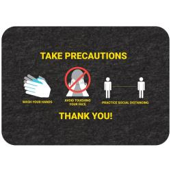 "New Pig - GMM21003 - ""Take Precautions"" Social Distancing Floor Sign image"