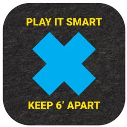 "New Pig - GMM99001 - ""Play It Smart"" Social Distancing Floor Sign image"