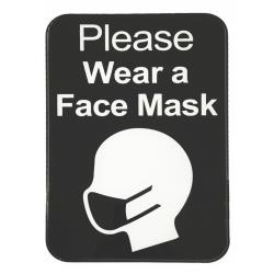 Tablecraft - 10542 - Please Wear Face Mask Sign image