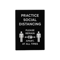 Winco - SGN-806 - Practice Social Distancing Sign image