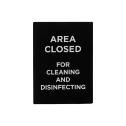 Winco - SGN-807 - Closed For Cleaning and Disinfecting Sign image
