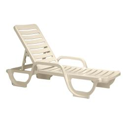 Grosfillex - 44031166 - Sandstone Bahia Deck Chaise - 18 Pack image