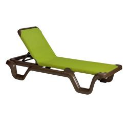 Grosfillex - 99415237 - Marina Fern Sling Chaise Lounge image