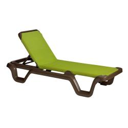 Grosfillex - US415237 - Marina Fern Sling Chaise Lounge image