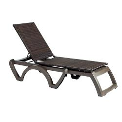 Grosfillex - US645237 - Java Espresso/ Bronze Chaise Lounge image