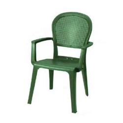 Grosfillex - 46105085 - Metal Green Seville Highback Armchair - 16 Pack image