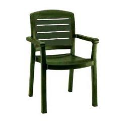 Grosfillex - 46119078 - Amazon Green Acadia Classic Dining Armchair - 12 Pack image