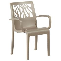 Grosfillex - US211181 - Taupe Vegetal Stacking Armchair - 4 Pack image