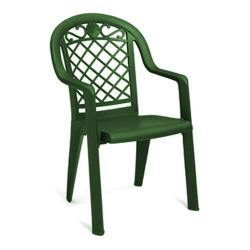 Grosfillex - US413185 - Metal Green Savannah Highback Armchair - 4 Pack image