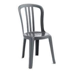 Grosfillex - US495502 - Charcoal Miami Bistro Sidechair 32 Pack image