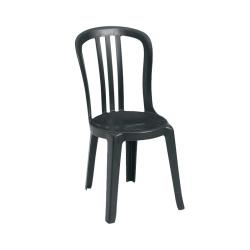 Grosfillex - US495517 - Black Miami Bistro Sidechair - 32 Pack image