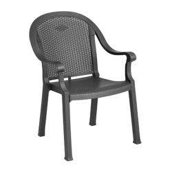 Grosfillex - US720002 - Charcoal Sumatra Classic Armchair - 16 Pack image