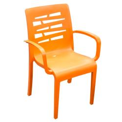 Grosfillex - US811019 - Orange Essenza Outdoor Stacking Armchair - 4 Pack image
