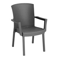 Grosfillex - US903002 - Charcoal Havana Classic Armchair - 4 Pack image